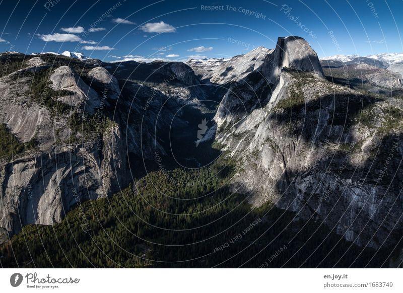 Klimagipfel Ferien & Urlaub & Reisen Abenteuer Ferne Sommerurlaub Berge u. Gebirge Natur Landschaft Himmel Horizont Klimawandel Wald Felsen Schlucht Tal