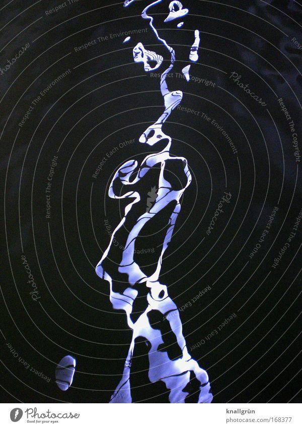 Wassergeist weiß blau schwarz dunkel hell Flüssigkeit Reflexion & Spiegelung Wasseroberfläche