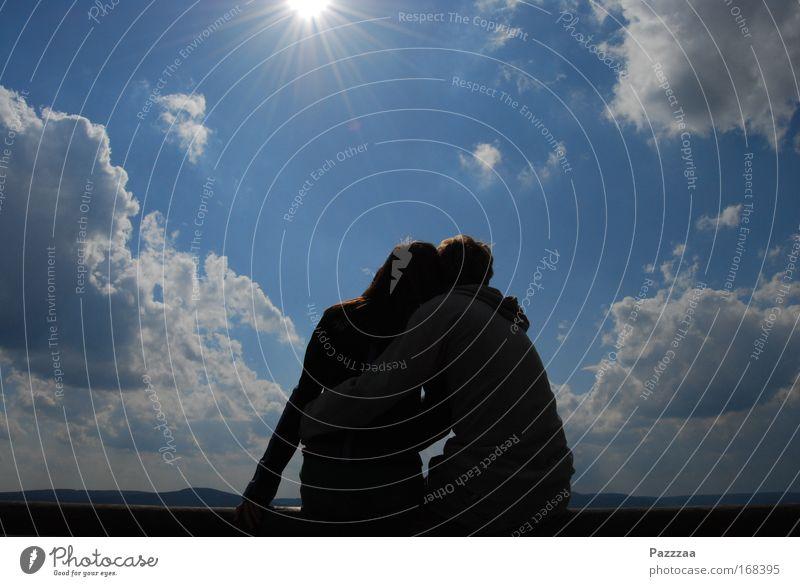 Kleiner 3 Mensch Himmel Natur Jugendliche Sonne Sommer Wolken Erwachsene Ferne Liebe Erholung Umwelt Landschaft Freiheit Glück Luft