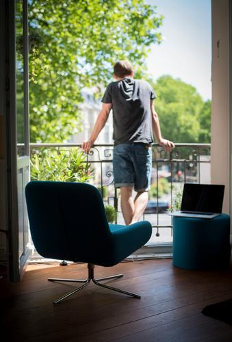 Sommer@Home Lifestyle Freude Gesundheit Freizeit & Hobby Häusliches Leben Wohnung Haus Umzug (Wohnungswechsel) einrichten Innenarchitektur Möbel Sessel Raum