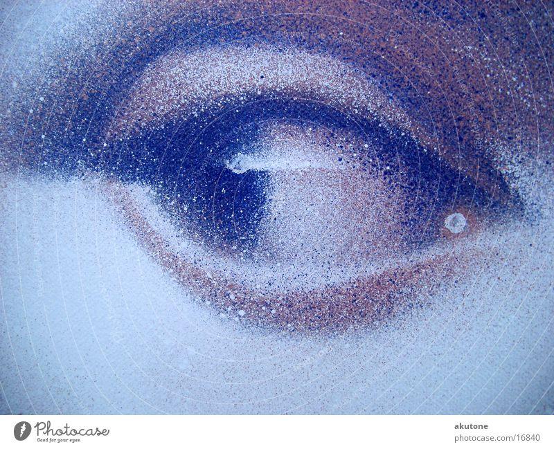 auge Spray Fototechnik Graffiti Bild Detailaufnahme aerosoul