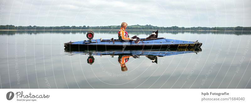 im Faltboot Freizeit & Hobby Ferien & Urlaub & Reisen Tourismus Ausflug Abenteuer Freiheit Sommer Sommerurlaub Sonne Sport Mensch feminin 1 Bootsfahrt Sportboot