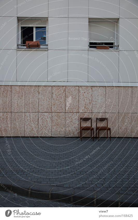 Terrasse Stadt Freude Ferien & Urlaub & Reisen Haus Einsamkeit Ferne Erholung Wand Fenster Stein Mauer Raum Wohnung Fassade ästhetisch Zukunft