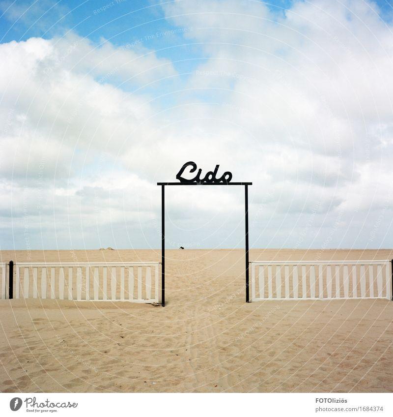 Beach Himmel Natur Ferien & Urlaub & Reisen blau Sommer Wasser Meer Erholung Wolken ruhig Strand schwarz gelb Lifestyle Schwimmen & Baden Sand