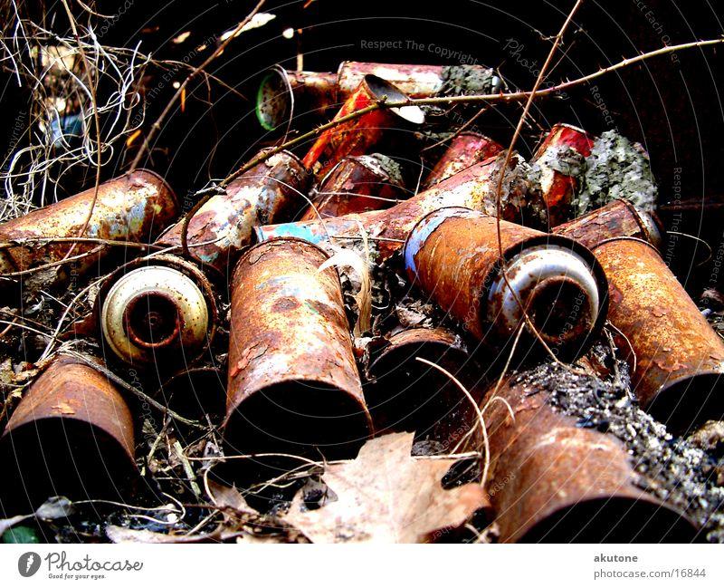 cans Dose Müll Dinge Rost trashig