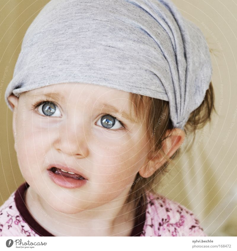 wenn dein kind dich morgen fragt Kind Mädchen schön Gesicht Auge Kopf authentisch Blick beobachten Neugier Konzentration Porträt Wachsamkeit Fragen Interesse Überraschung