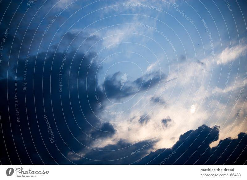HIMMELSFIRMAMENT Natur schön Sonne blau Sommer Wolken grau Luft Zufriedenheit Stimmung Wetter Umwelt hoch ästhetisch Unendlichkeit außergewöhnlich