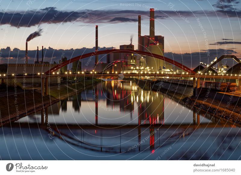 Kohlekraftwerk Industrie Energiewirtschaft Technik & Technologie Landschaft Wasser Klima Klimawandel Flussufer Rhein Mannheim Deutschland Europa Industrieanlage