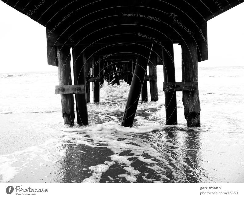 Meer Meer Strand Holz