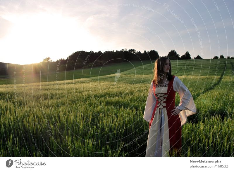 Königin Gwenivere von Camelot Feld warten Kleid Fantasygeschichte Mensch Mittelalter Adel