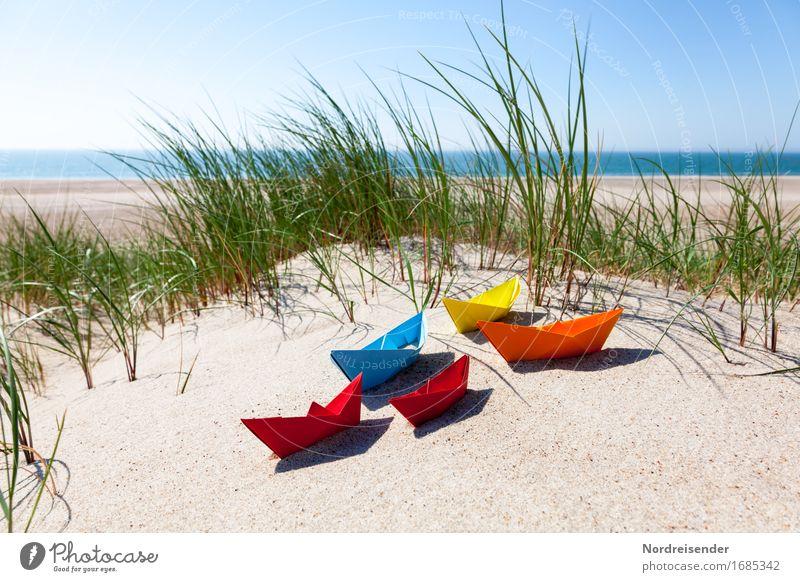 Sommerzeit Ferien & Urlaub & Reisen Wasser Sonne Meer Freude Strand Spielen Sand Freizeit & Hobby Schönes Wetter Papier Ostsee Fernweh Spielzeug
