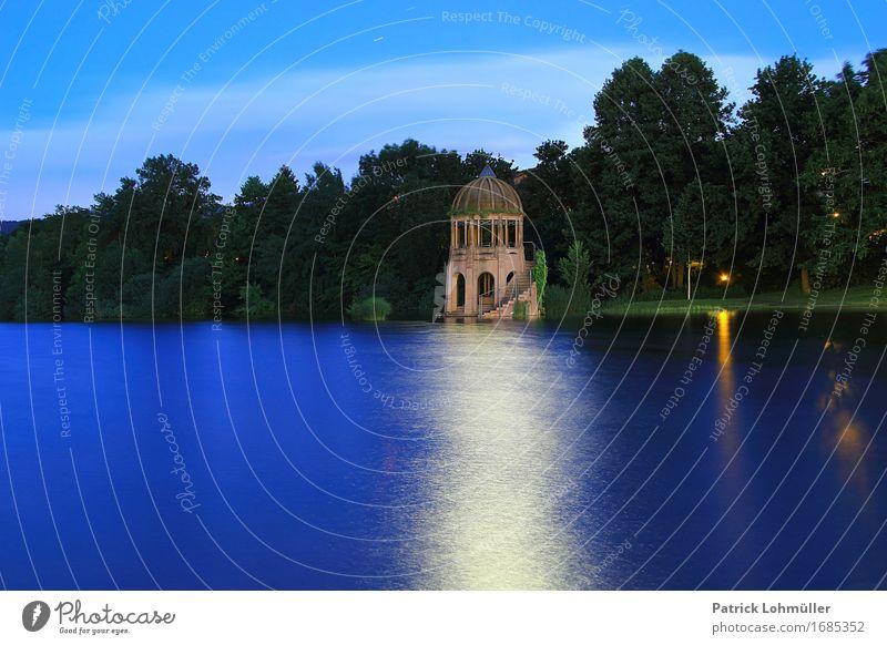 Kleiner Tempel im Seepark Ferien & Urlaub & Reisen Ausflug Städtereise Umwelt Natur Wasser Nachthimmel Schönes Wetter Baum Sträucher Seeufer Flückiger See