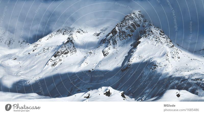 peaceful giant Abenteuer Freiheit Winter Winterurlaub Berge u. Gebirge Skier Snowboard Skipiste Natur Landschaft Urelemente Wind Eis Frost Schnee Alpen