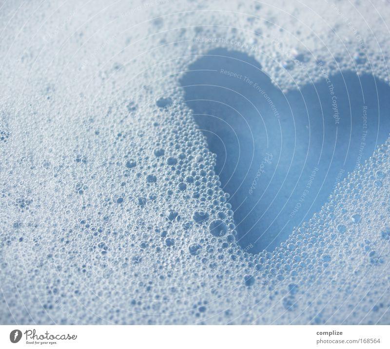 I like Baden blau schön Erholung Haus Freude Liebe Wohnung Häusliches Leben dreckig Herz Romantik Zeichen Wellness Bad Wohlgefühl Körperpflege