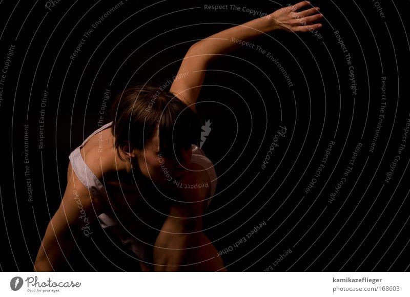 katze Farbfoto Gedeckte Farben Studioaufnahme Textfreiraum rechts Hintergrund neutral Blitzlichtaufnahme Schwache Tiefenschärfe Totale Oberkörper Vorderansicht