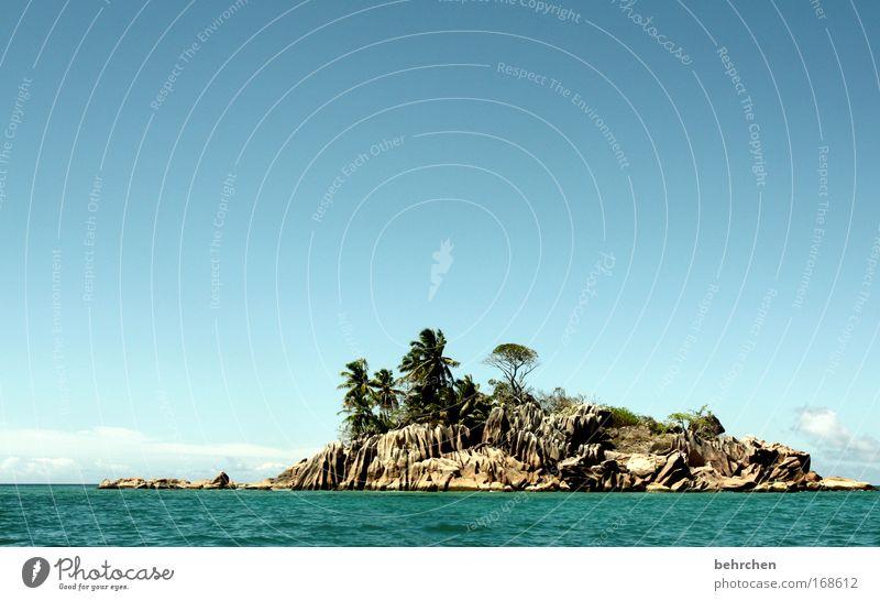 die möglichkeit einer insel Farbfoto Außenaufnahme Menschenleer Sonnenlicht Ferien & Urlaub & Reisen Tourismus Ausflug Ferne Freiheit Sommer Meer Insel Wellen
