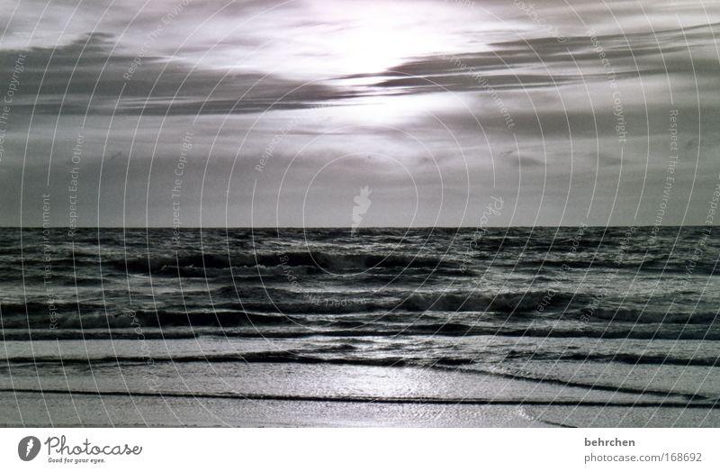 mein schönster sonnenuntergang Natur Himmel Meer Sommer Strand Ferien & Urlaub & Reisen Wolken Einsamkeit Ferne Freiheit Glück träumen Zufriedenheit Wellen