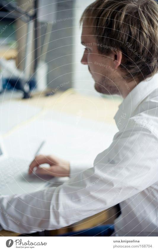 ausarbeiten Computer Mensch Mann Hand Informationstechnologie Erwachsene Haare & Frisuren Kopf 18-30 Jahre Business Büro Arbeit & Erwerbstätigkeit blond Arme maskulin Erfolg