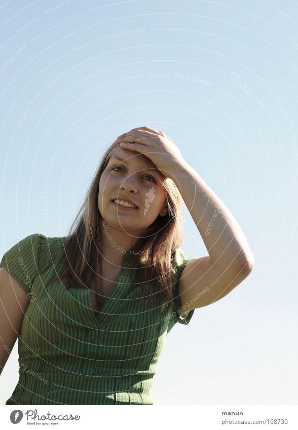 ...expectation Frau Mensch Jugendliche schön Sonne Leben Frühling Wärme Gesundheit Erwachsene Perspektive Fröhlichkeit Zukunft Student Wunsch