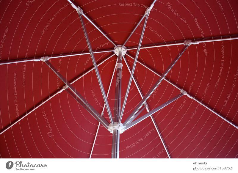 Biergartenzeit rot Sommer Ernährung Feste & Feiern Sicherheit Schutz Regenschirm Sonnenschirm Geborgenheit ausgehen