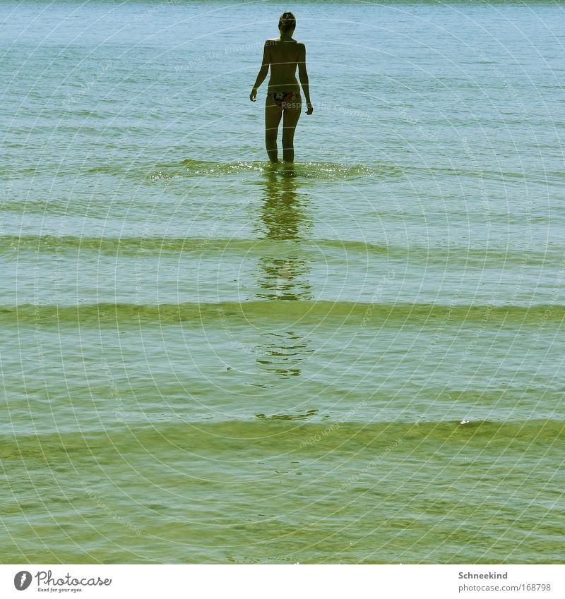 Am_mersee Mensch Jugendliche Wasser Sommer Strand ruhig Erwachsene Erholung feminin Bewegung Glück Küste See Zufriedenheit Rücken Ausflug