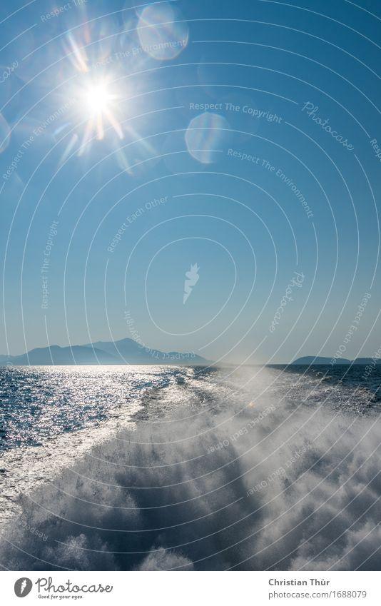 Mittelmeer Natur Ferien & Urlaub & Reisen blau Sommer Wasser Meer Erholung ruhig Schwimmen & Baden Tourismus Zufriedenheit leuchten Wellen Ausflug genießen