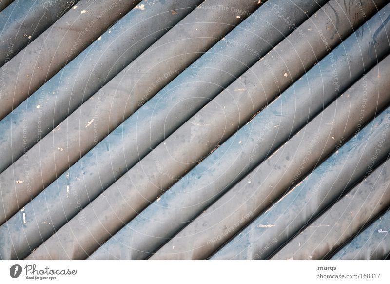 quer Gedeckte Farben abstrakt Muster Strukturen & Formen Stil Design Fassade Linie Streifen außergewöhnlich dreckig trashig grau Optimismus Ordnungsliebe