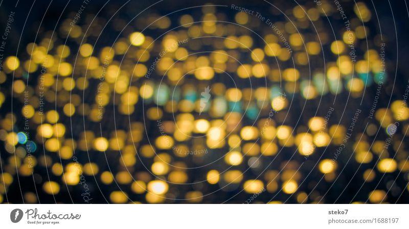 Etagenlichter schwarz gelb glänzend leuchten Hochhaus Bankgebäude New York City Schichtarbeit Überstunde
