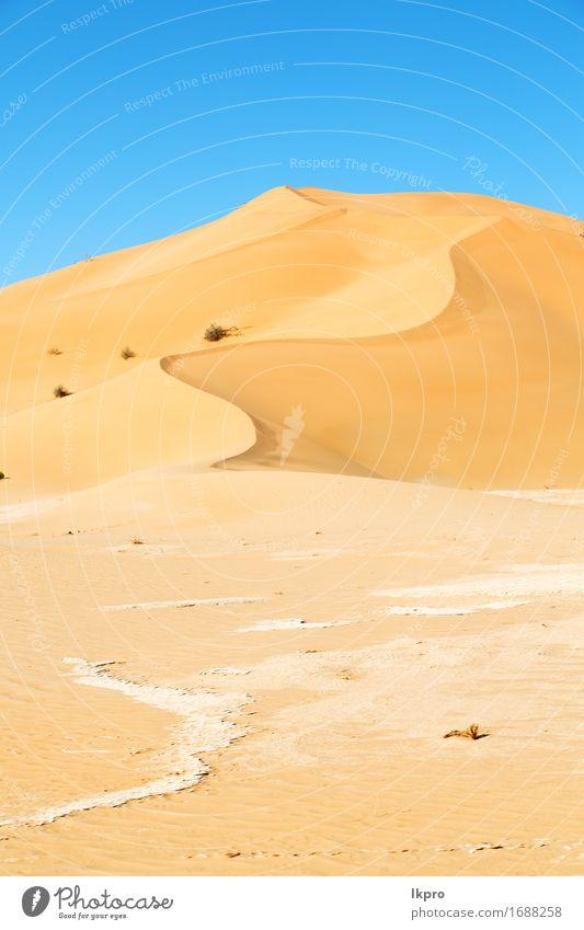 Oman alte Wüste reiben Al Khali schön Ferien & Urlaub & Reisen Tourismus Abenteuer Safari Sommer Sonne Natur Landschaft Sand Himmel Horizont Park Hügel Felsen