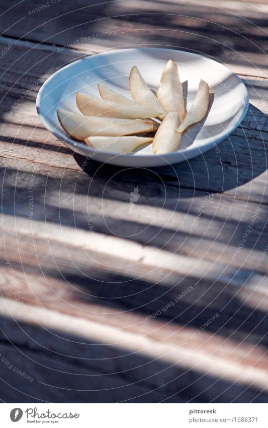 refreshing summer Lebensmittel Frucht Dessert Ernährung Frühstück Bioprodukte Vegetarische Ernährung Diät Fasten Fingerfood Birne lecker Teller Snack