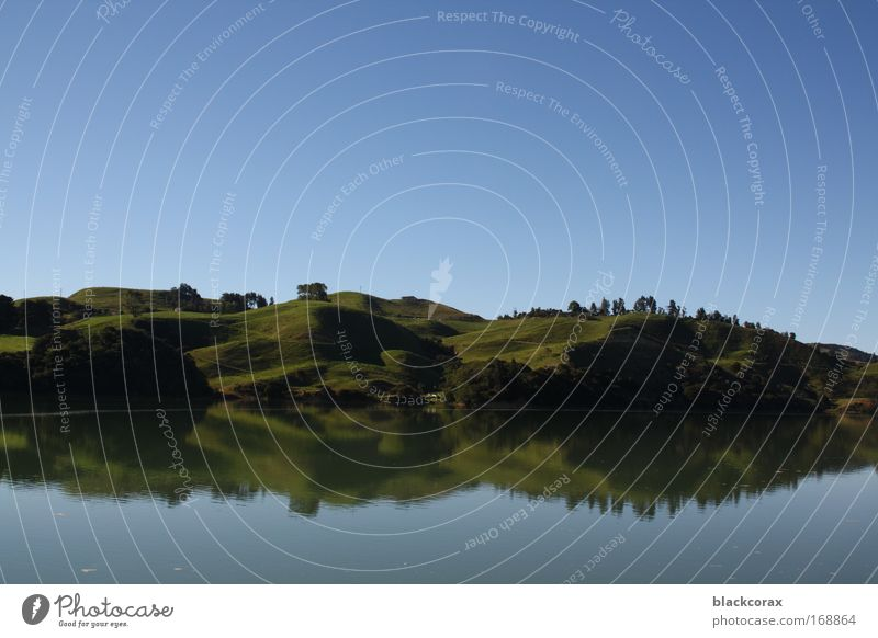 mirrorlake See Landschaft rein Hügel Auenland Neuseeland