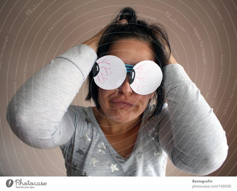 da guckste Farbfoto Innenaufnahme Mensch feminin Junge Frau Jugendliche Auge Mund 1 18-30 Jahre Erwachsene Freude