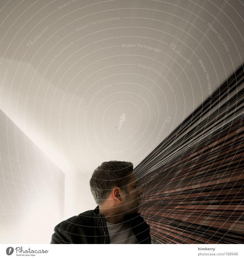 visionaer Mensch Mann Erwachsene Leben Kopf Haare & Frisuren Arbeit & Erwerbstätigkeit blond maskulin Design Wachstum Wandel & Veränderung Zukunft Bekleidung