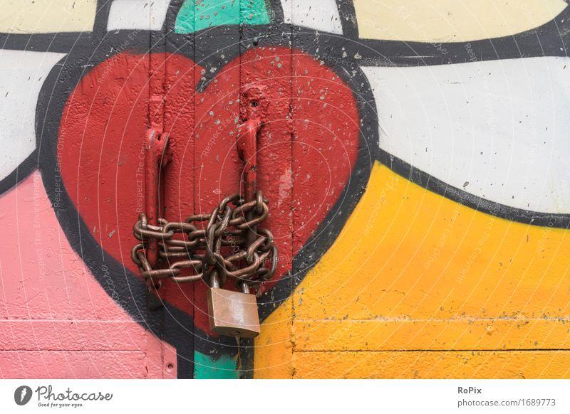 safe love Valentinstag Kunst Maler Kunstwerk Architektur Hafenstadt Stadtzentrum Industrieanlage Fabrik Tor Bauwerk Tür Tresor Metall Stahl Graffiti Herz