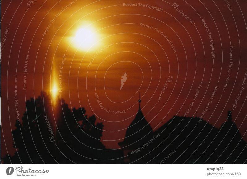 midnight Nacht Club Mond Himmel Reflektion Schatten