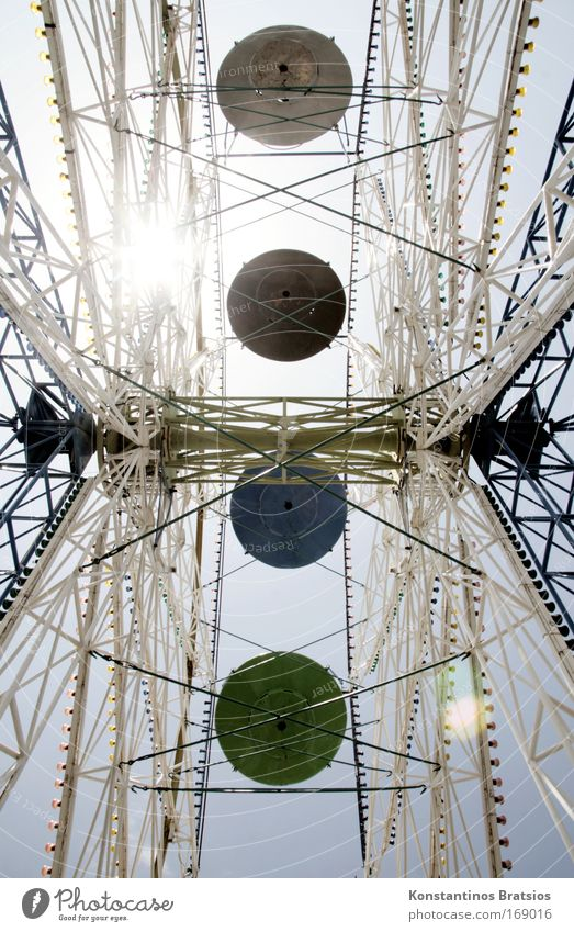 Round & Round It Goes Freude Bewegung Zusammensein hoch Fröhlichkeit fahren Schönes Wetter drehen Jahrmarkt Tradition Riesenrad schaukeln Vergnügungspark Kultur