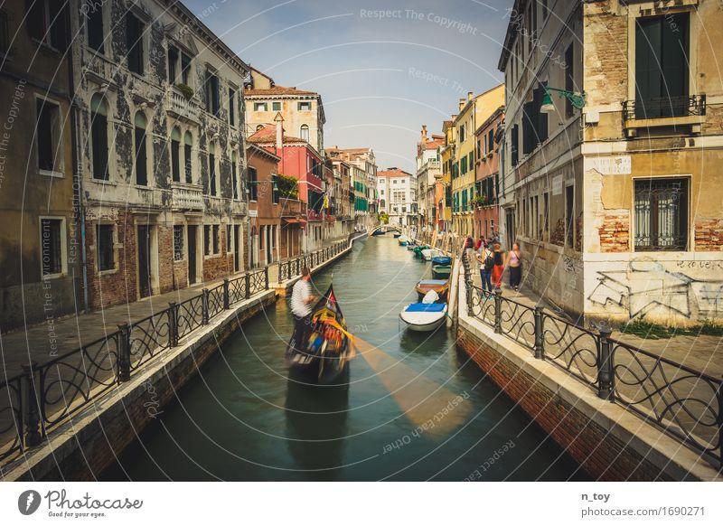 Day in Venice Venedig italien Europa Stadt Hafenstadt Altstadt Haus Brücke Bootsfahrt drehen fahren alt einfach retro Stimmung Gelassenheit geduldig ruhig