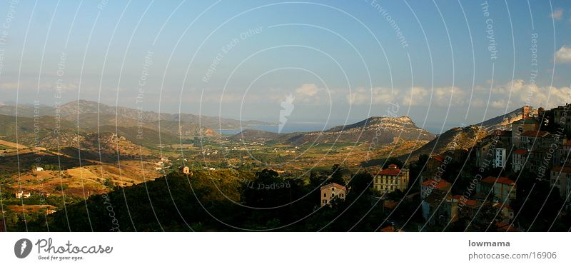 10 Uhr Blick von Oletta (Korsika) Korse Frankreich Meer Sonnenaufgang Physik See Europa Corse Corsica Insel Inselblick Landschaft Wärme blau Himmel