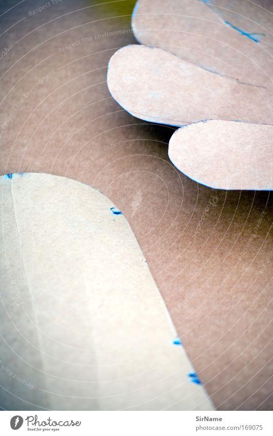 106 [Form und Farbe] Bildung Kindergarten Industrie Handwerk Papier Schilder & Markierungen Arbeit & Erwerbstätigkeit ästhetisch elegant trendy braun