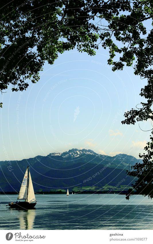 Auf zu neuen Horizonten Natur Wasser blau Baum Ferien & Urlaub & Reisen Ferne Erholung Freiheit Berge u. Gebirge See Freizeit & Hobby Ausflug Abenteuer wild Alpen Unendlichkeit