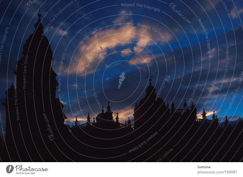 Kathedrale in Santiago de Compostela Ferien & Urlaub & Reisen Stadt blau schwarz Architektur Religion & Glaube Fassade Energiewirtschaft Kraft ästhetisch