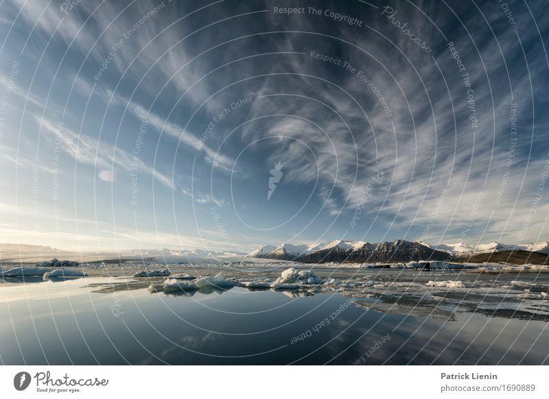 Ice Age schön Leben Ferien & Urlaub & Reisen Abenteuer Sonne Insel Winter Schnee Berge u. Gebirge Umwelt Natur Landschaft Urelemente Erde Himmel Wolken Wetter