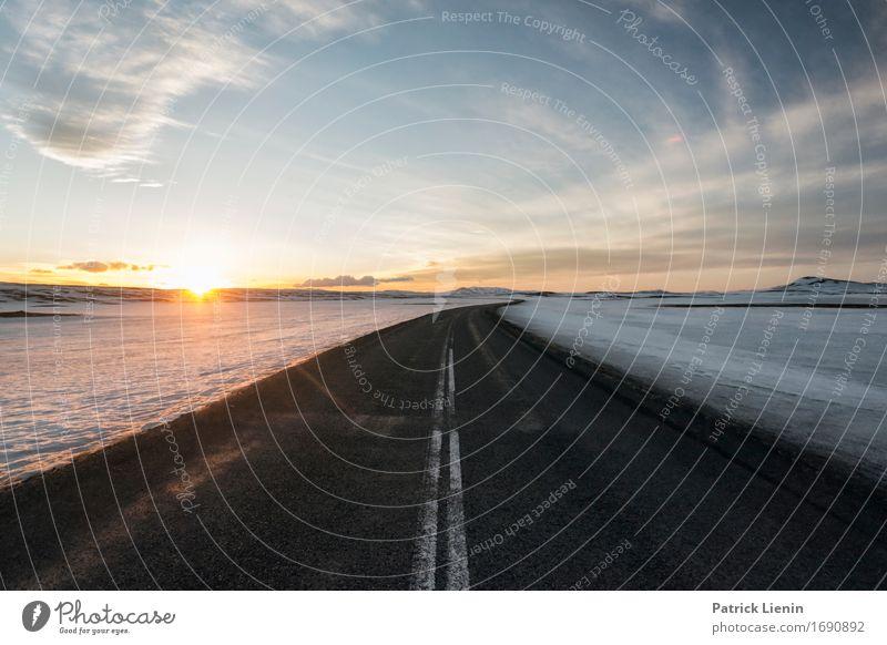 Ring Road Himmel Natur Ferien & Urlaub & Reisen Sonne Landschaft Wolken Winter Umwelt Straße Leben Wege & Pfade Erde Horizont Wetter Verkehr Insel