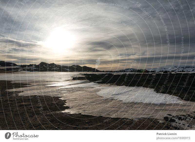 Vulkanlandschaft Leben Ferien & Urlaub & Reisen Abenteuer Sonne Insel Winter Schnee Berge u. Gebirge Umwelt Natur Landschaft Urelemente Erde Feuer Luft Himmel