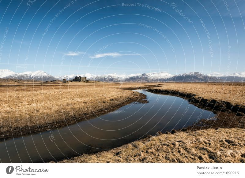Cold Country Himmel Natur Ferien & Urlaub & Reisen blau schön Landschaft Haus Berge u. Gebirge Umwelt Leben Schnee Erde Horizont Wetter Insel Klima