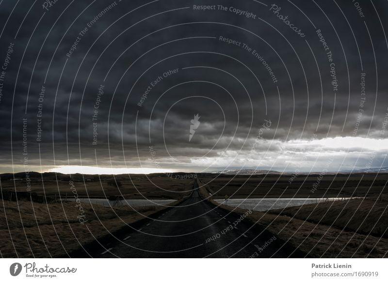 Himmel Natur Ferien & Urlaub & Reisen Landschaft Erholung Wolken ruhig Ferne dunkel Berge u. Gebirge Umwelt Straße Leben Wege & Pfade Lifestyle Freiheit