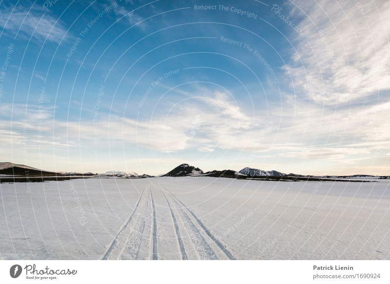 Eiszeit Himmel Natur Ferien & Urlaub & Reisen Sonne Landschaft Winter Berge u. Gebirge Umwelt Leben Schnee Erde Wetter Europa Aussicht Insel Abenteuer