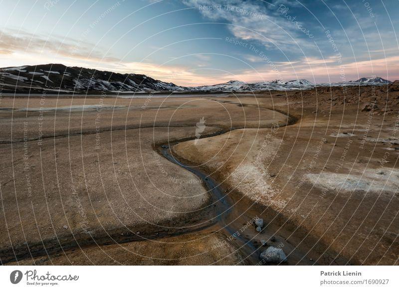 Krafla Himmel Natur Ferien & Urlaub & Reisen blau Sonne Landschaft Wolken Winter Berge u. Gebirge Umwelt Leben Erde Wetter Insel Klima Abenteuer