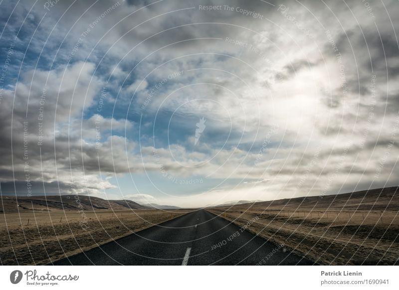 Raumgleiter Himmel Natur Ferien & Urlaub & Reisen Sonne Landschaft Wolken Ferne Winter Berge u. Gebirge Straße Umwelt Leben Frühling Wege & Pfade Freiheit