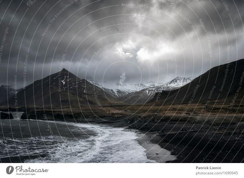 Aprilwetter Leben Ferien & Urlaub & Reisen Strand Umwelt Natur Landschaft Urelemente Erde Wasser Himmel Wolken Gewitterwolken Winter Klima Klimawandel Wetter